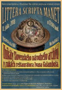 I. GALAMBOŠ Pozvánka na výstavu v UKB - Littera Scripta Manet
