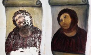 Elias Garcia Martinez : freska Krista v kostole Santuario de Misericordia de Borja v Zaragoze