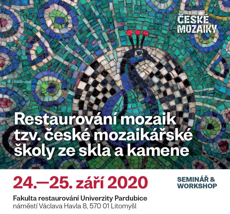"""Pozvánka na """"Restaurování mozaik tzv. české mozaikářské školy ze skla a kamene"""""""