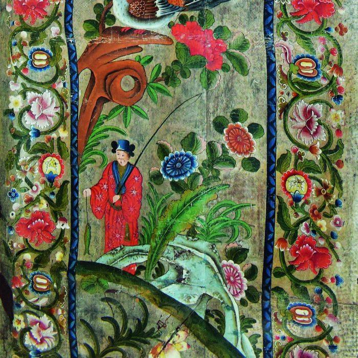 Záchrana kožených tapiet Čínskej sály Kaštieľa Holíč