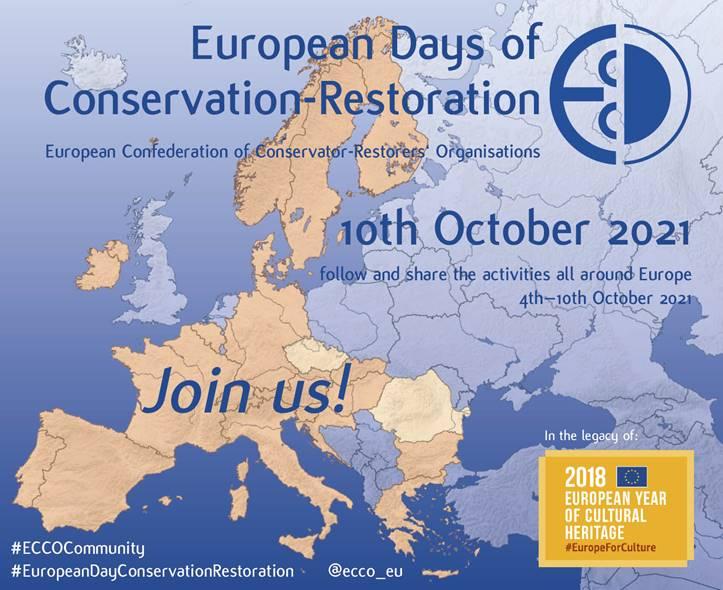 EURÓPSKY DEŇ KONZERVOVANIA-REŠTAUROVANIA a TÝŽDEŇ SOCIÁLNYCH MÉDIÍ od 4.do 10.októbra 2021